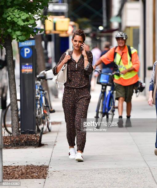 Katie Holmes seen on the streets of Manhattan on August 16 2017 in New York City