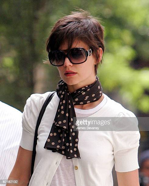 Katie Holmes seen on the streets of Manhattan on August 5 2008 in New York City
