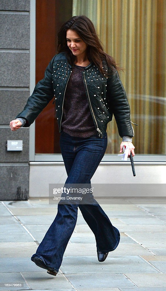Katie Holmes seen on the streets of Manhattan on March 10, 2013 in New York City.