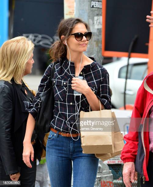 Katie Holmes seen on the streets of Manhattan on September 27 2013 in New York City