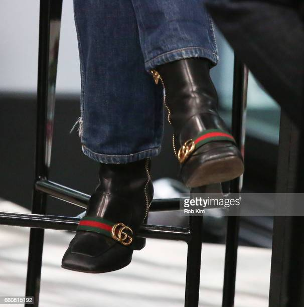 Katie Holmes shoe detail discusses 'The Kennedys After Camelot' during the Build Series at Build Studio on March 30 2017 in New York City