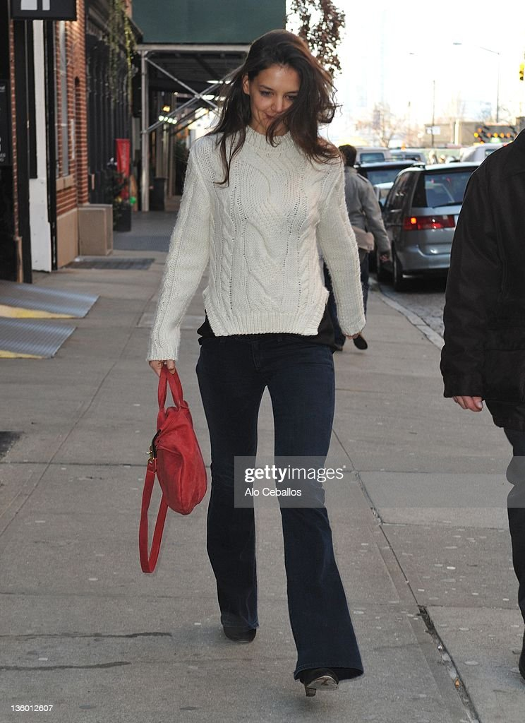 Katie Holmes sighting on December 19 2011 in New York City