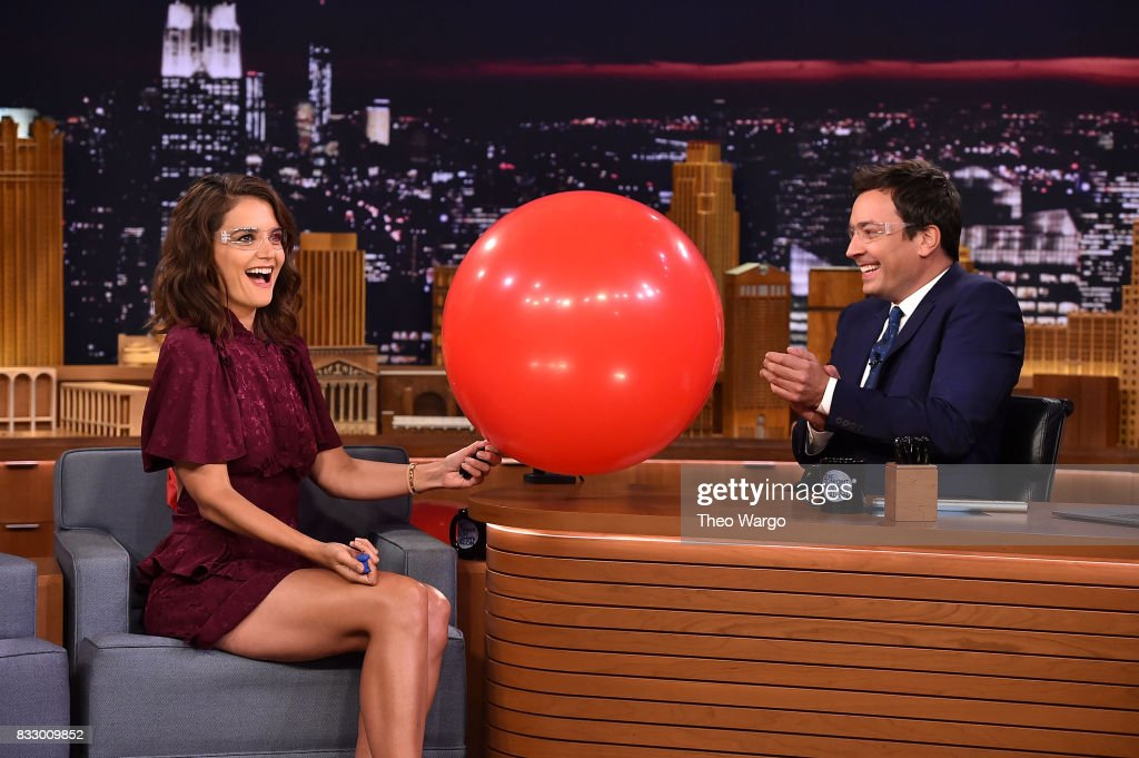 Katie Holmes Visits 'The Tonight Show Starring Jimmy Fallon' at Rockefeller Center on August 16, 2017 in New York City.