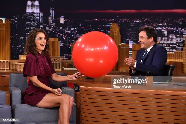 Katie Holmes Visits 'The Tonight Show Starring Jimmy Fallon' at Rockefeller Center on August 16 2017 in New York City