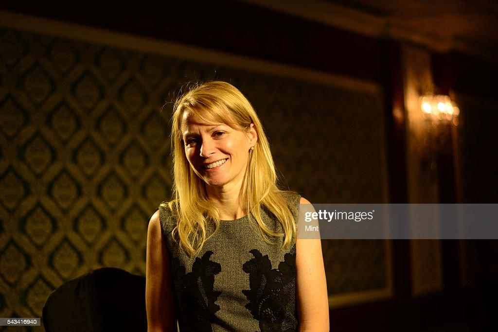 Katie Jacobs Stanton - Vice President of Global Media, Twitter posing during HT leadership Summit on November 22, 2014 in New Delhi, India.