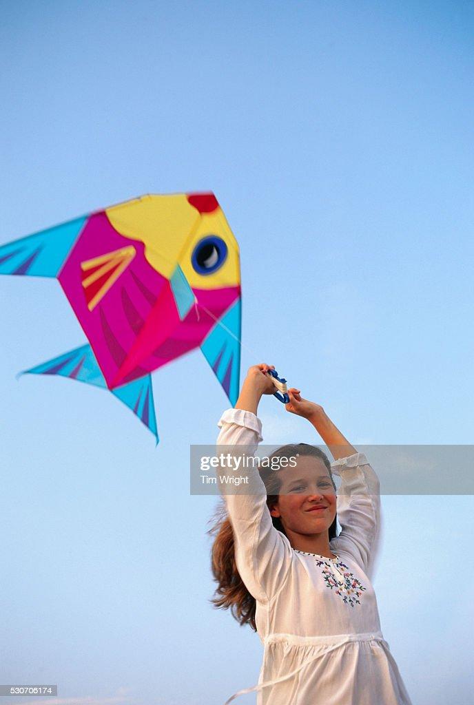 Katie Jordan Flying a Kite