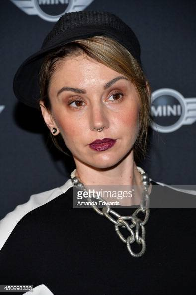 Katie Kay Mead arrives at the MINI Cooper red carpet premiere on November 19 2013 in Los Angeles California