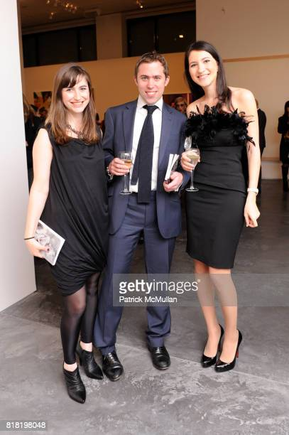 Katie Kennedy Peter Sumner and Tamila Kerimova attend PHILLIPS DE PURY Company's opening reception for CARTE BIANCHE PHILLIPE SEGALOT and...