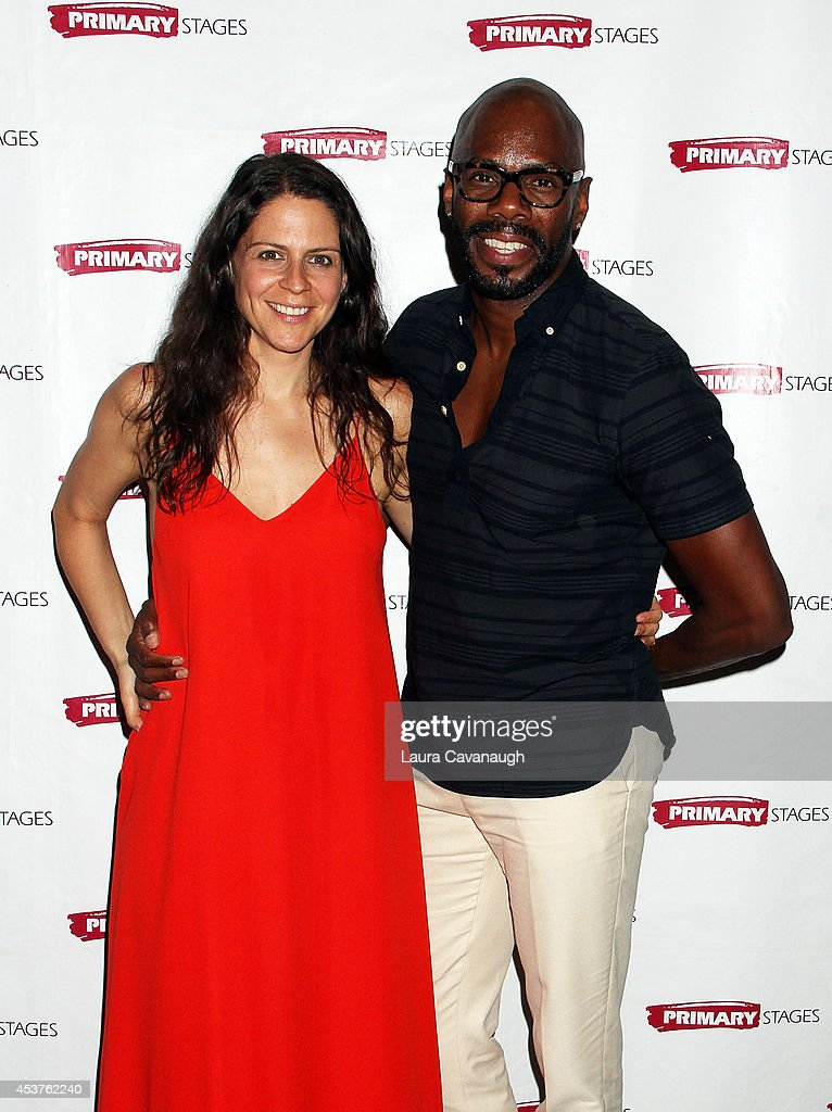 Katie Kreisler and <a gi-track='captionPersonalityLinkClicked' href=/galleries/search?phrase=Colman+Domingo&family=editorial&specificpeople=4946383 ng-click='$event.stopPropagation()'>Colman Domingo</a> attend the 'Poor Behavior' Opening Night after party at Casa Nonna on August 17, 2014 in New York City.