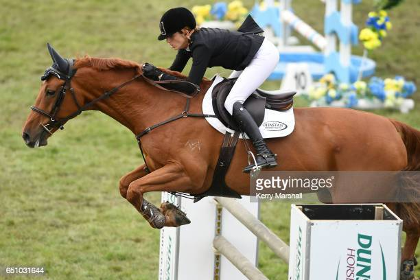 Katie Laurie rides Esteban MVNZ in the Silver Fern Stakes during 2017 Horse of the Year on March 10 2017 in Hastings New Zealand