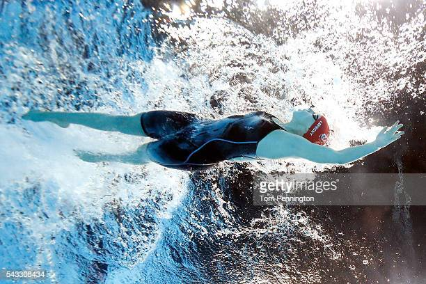 Katie Ledecky of the United States competes in a heat for the Women's 400 Meter Freestyle during Day Two of the 2016 US Olympic Team Swimming Trials...