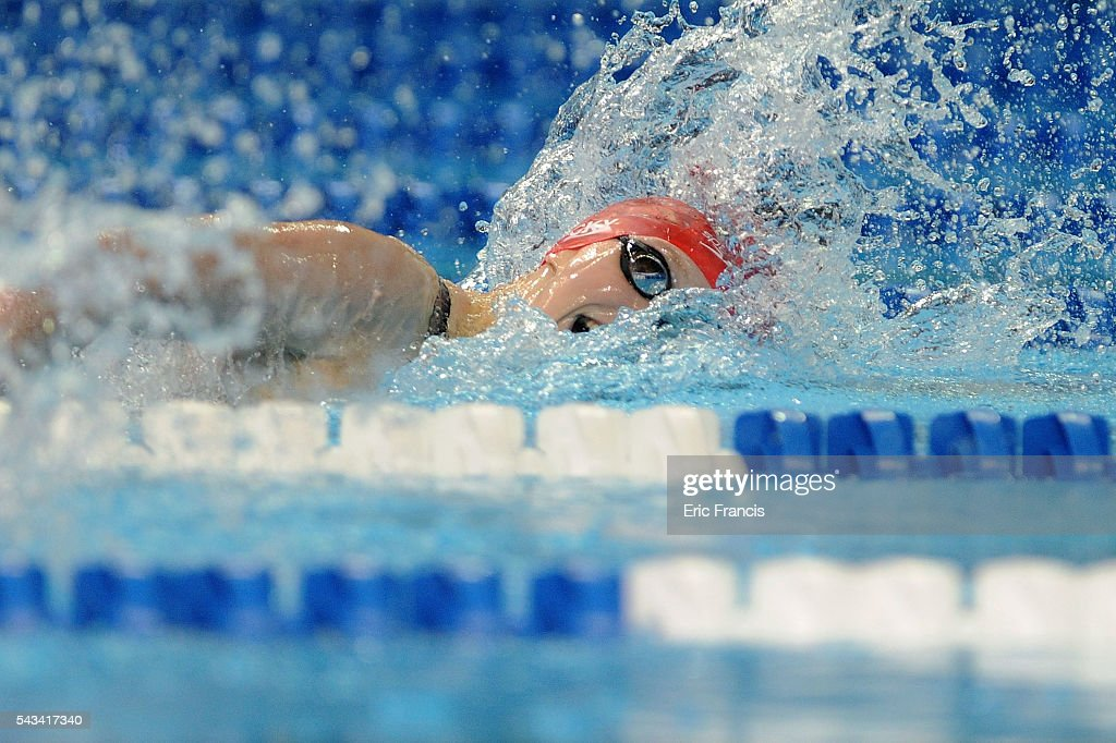 <a gi-track='captionPersonalityLinkClicked' href=/galleries/search?phrase=Katie+Ledecky&family=editorial&specificpeople=9595921 ng-click='$event.stopPropagation()'>Katie Ledecky</a> of the United States competes in a preliminary heat of the Women's 200 Meter Freestyle during Day 3 of the 2016 U.S. Olympic Team Swimming Trials at CenturyLink Center on June 28, 2016 in Omaha, Nebraska.