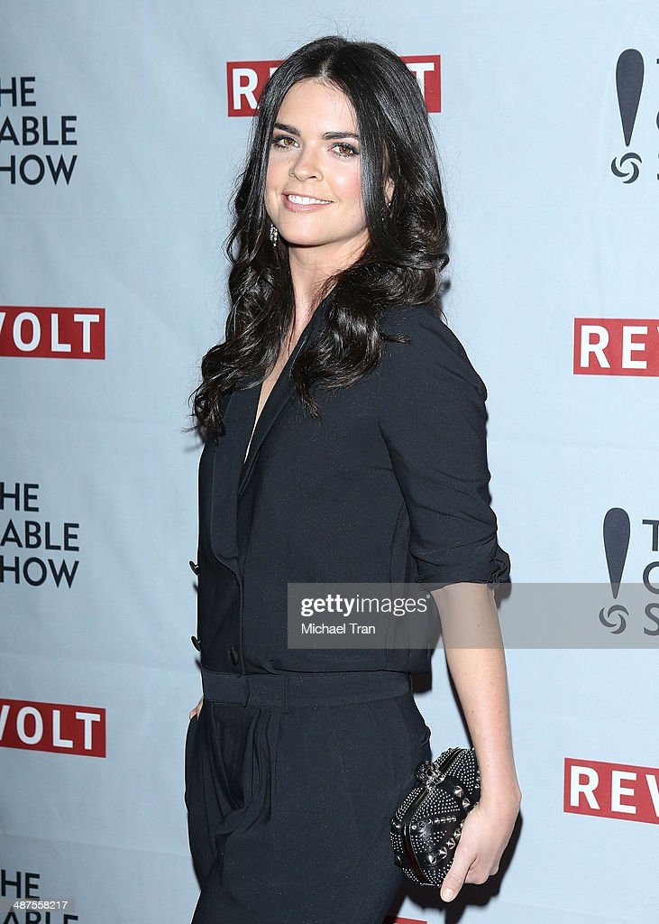 Katie Lee arrives at REVOLT and The National Cable and Telecommunications Association's (NCTA) celebration of cable party held at Belasco Theatre on April 30, 2014 in Los Angeles, California.