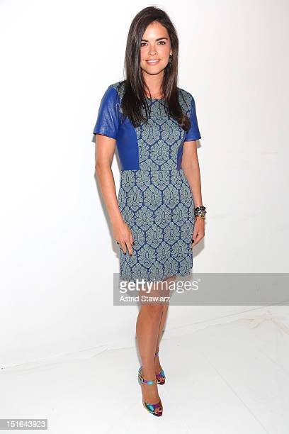 Katie Lee attends the Tracy Reese Spring 2013 fashion show during for TRESemme during MercedesBenz Fashion Week at The Studio at Lincoln Center on...