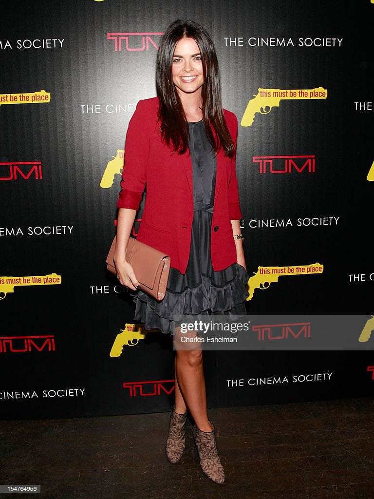 Katie Lee attends the Weinstein Company, The Cinema Society & Tumi screening of 'This Must Be the Place' at the Tribeca Grand Screening Room on October 25, 2012 in New York City.
