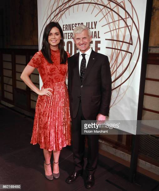 Katie Lee cookbook author and television host and Andrea Illy Chairman of illycaff at the Ernesto Illy International Coffee Award gala at New York...