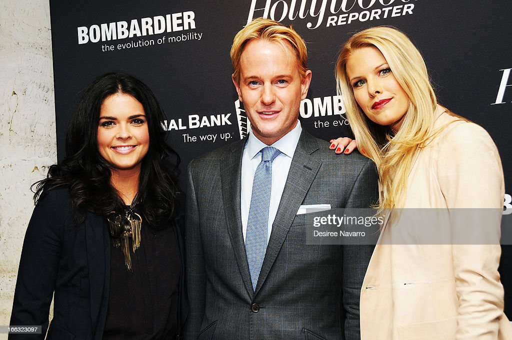 Katie Lee, <a gi-track='captionPersonalityLinkClicked' href=/galleries/search?phrase=Daniel+Benedict&family=editorial&specificpeople=561391 ng-click='$event.stopPropagation()'>Daniel Benedict</a> and Beth Orstrosky Stern attend The Hollywood Reporters 35 Most Powerful People In Media at Four Seasons Grill Room on April 10, 2013 in New York City.