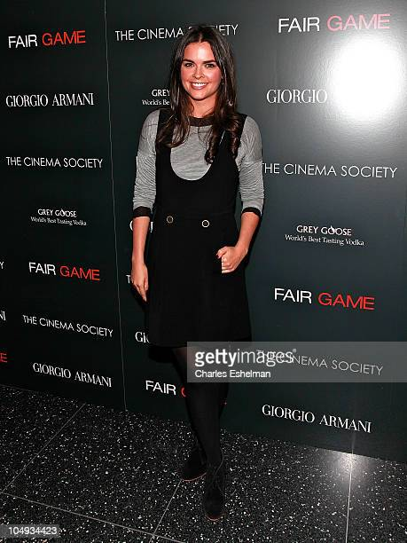 Katie Lee TV personality attends Giorgio Armani The Cinema Society's screening of 'Fair Game' at The Museum of Modern Art on October 6 2010 in New...