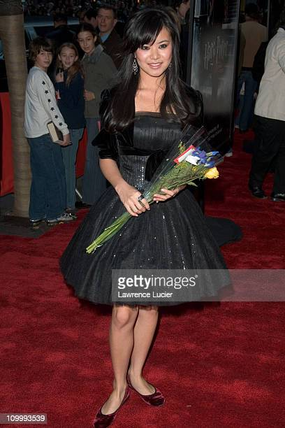 Katie Leung during Warner Bros' Harry Potter and the Goblet of Fire New York City Premiere Arrivals at Ziegfeld Theater in New York City New York...