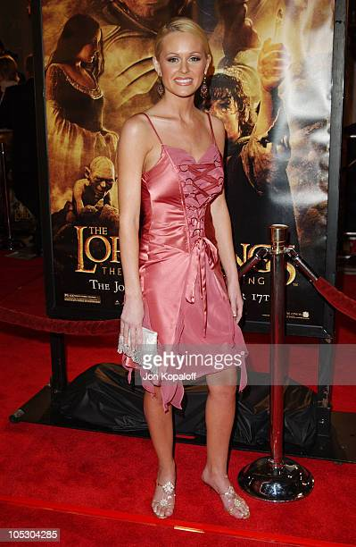 Katie Lohmann during 'The Lord Of The Rings The Return Of The King' Los Angeles Premiere at The Mann Village Theatre in Westwood California United...