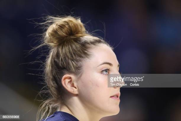 Katie Lou Samuelson of the Connecticut Huskies during warm up before the UConn Huskies Vs Oregon Ducks NCAA Women's Division 1 Basketball...