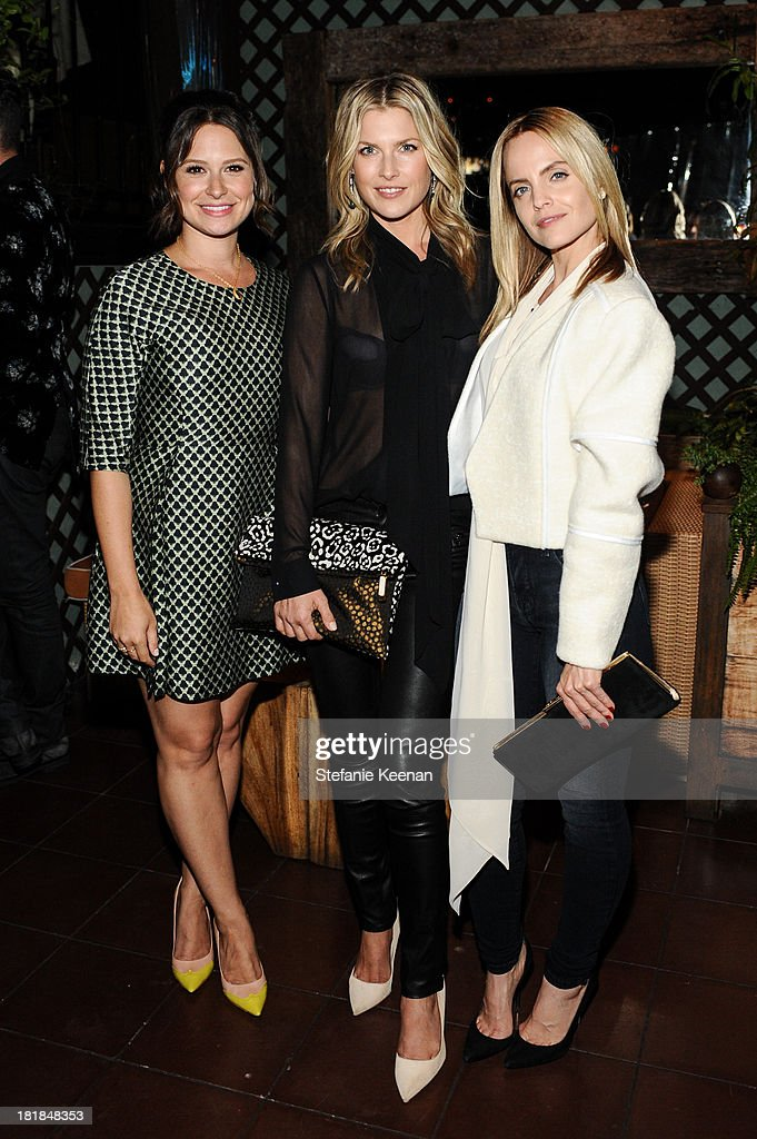 Katie Lowes, <a gi-track='captionPersonalityLinkClicked' href=/galleries/search?phrase=Ali+Larter&family=editorial&specificpeople=208082 ng-click='$event.stopPropagation()'>Ali Larter</a> and <a gi-track='captionPersonalityLinkClicked' href=/galleries/search?phrase=Mena+Suvari&family=editorial&specificpeople=156413 ng-click='$event.stopPropagation()'>Mena Suvari</a> attend an intimate dinner event hosted by Elle magazine and J Brand at Petit Ermitage Hotel on September 25, 2013 in West Hollywood, California.