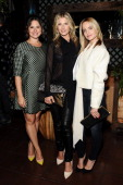 Katie Lowes Ali Larter and Mena Suvari attend an intimate dinner event hosted by Elle magazine and J Brand at Petit Ermitage Hotel on September 25...