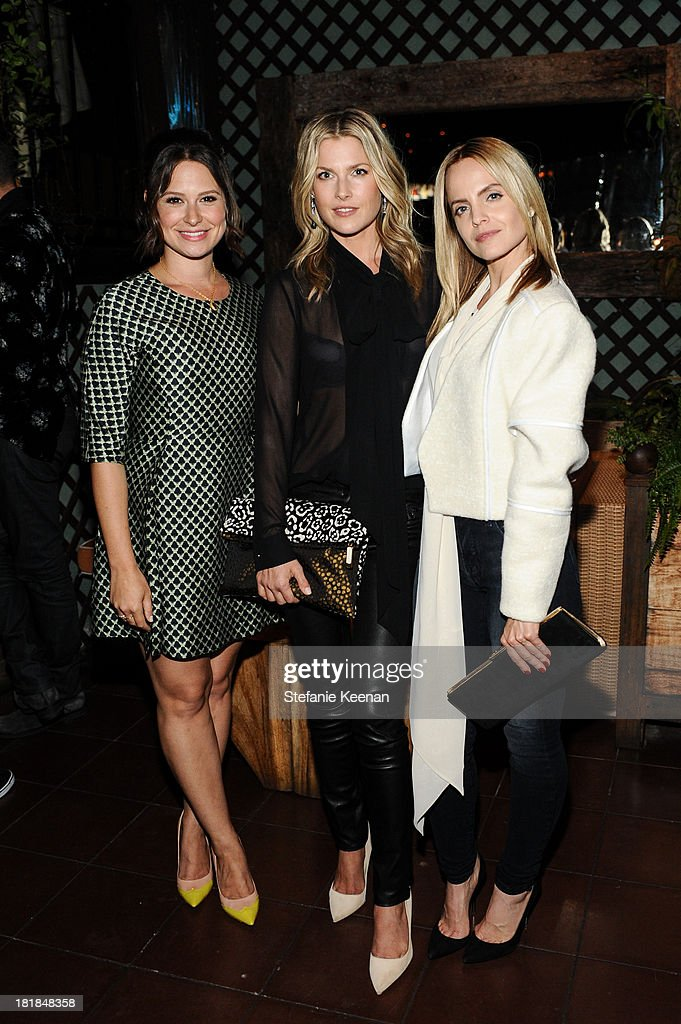 Katie Lowes, Ali Larter and Mena Suvari attend an intimate dinner event hosted by Elle magazine and J Brand at Petit Ermitage Hotel on September 25, 2013 in West Hollywood, California.