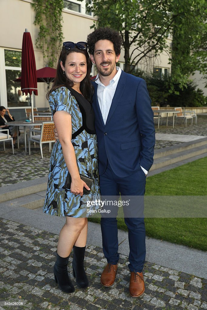 <a gi-track='captionPersonalityLinkClicked' href=/galleries/search?phrase=Katie+Lowes&family=editorial&specificpeople=5527804 ng-click='$event.stopPropagation()'>Katie Lowes</a> and Adam Saphiro at the Sustainability & Style event at the Embassy of The United States of America on June 28, 2016 in Berlin, Germany.