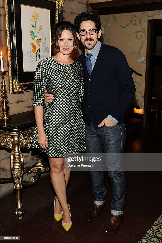 Katie Lowes and Adam Shapiro attend an intimate dinner event hosted by Elle magazine and J Brand at Petit Ermitage Hotel on September 25, 2013 in West Hollywood, California.