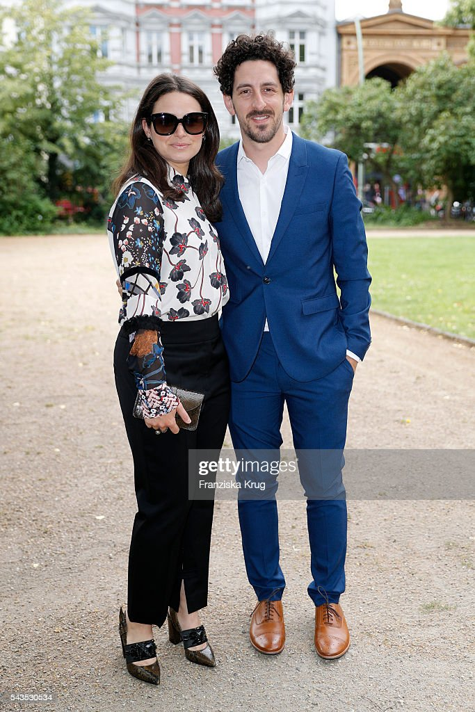 <a gi-track='captionPersonalityLinkClicked' href=/galleries/search?phrase=Katie+Lowes&family=editorial&specificpeople=5527804 ng-click='$event.stopPropagation()'>Katie Lowes</a> and Adam Shapiro attend the Dorothee Schumacher show during the Mercedes-Benz Fashion Week Berlin Spring/Summer 2017 at Elisabethkirche on June 29, 2016 in Berlin, Germany.