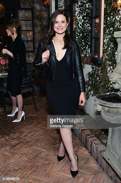Katie Lowes attends a dinner celebrating Kerry Washington hosted by ELLE EditorInChief Robbie Myers and Movado Chairman CEO Efraim Grinberg at AOC on...