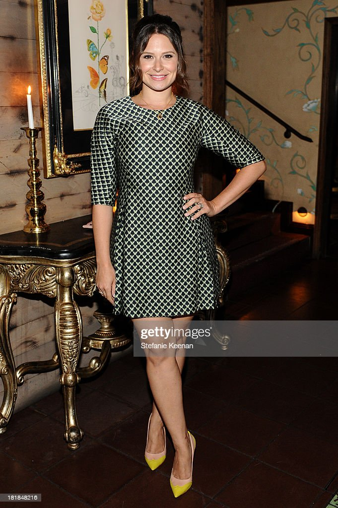 Katie Lowes attends an intimate dinner event hosted by Elle magazine and J Brand at Petit Ermitage Hotel on September 25, 2013 in West Hollywood, California.