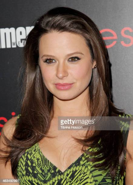Katie Lowes attends the Entertainment Weekly SAG Awards preparty at Chateau Marmont on January 17 2014 in Los Angeles California