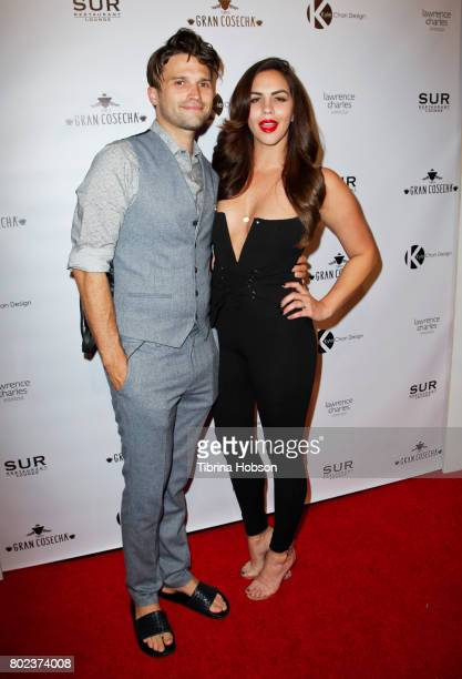 Katie Maloney and Tom Schwartz attend Kyle Chan's 3rd annual #LOVECAMPAIGN Party at SUR Lounge on June 27 2017 in Los Angeles California