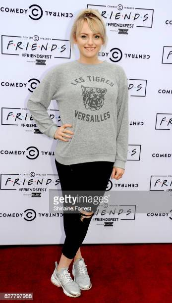 Katie McGlynn arrives at 'FriendsFest' 2017 at Heaton Park on August 8 2017 in Manchester England