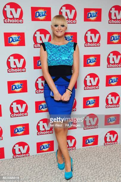Katie McGlynn arriving for the 2013 TV Choice awards at the Dorchester Hotel London