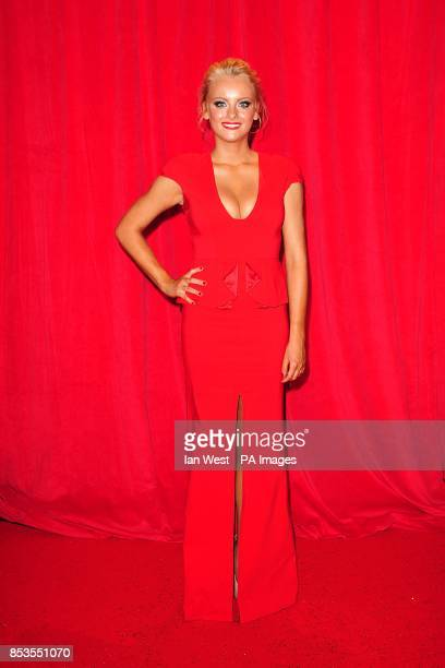 Katie McGlynn arriving for the 2014 British Soap Awards at The Hackney Empire 291 Mare St London