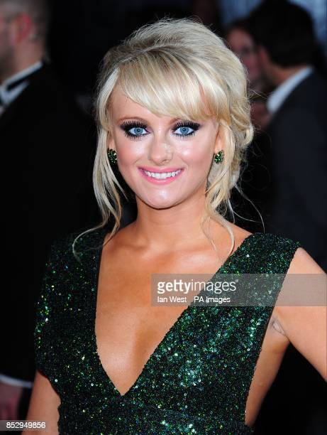 Katie McGlynn arriving for the 2014 National Television Awards at the O2 Arena London