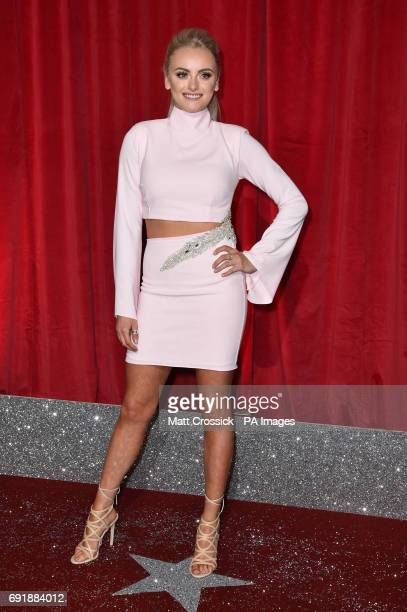 Katie McGlynn attending the British Soap Awards 2017 at The Lowry Salford Manchester