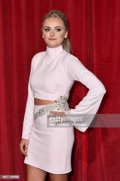 Katie McGlynn attending the British Soap Awards 2017 at The Lowry Salford Manchester PRESS ASSOCIATION Photo Picture date Saturday 3 June 2017 See PA...