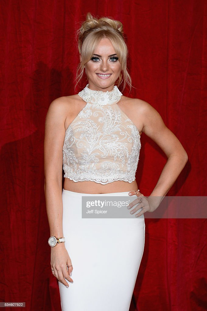 Katie McGlynn attends the British Soap Awards 2016 at Hackney Empire on May 28, 2016 in London, England.