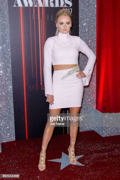 Katie McGlynn attends the British Soap Awards at The Lowry Theatre on June 3 2017 in Manchester England