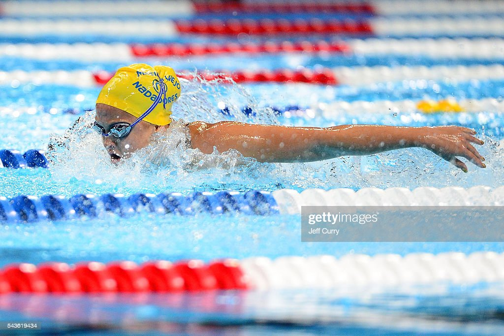 <a gi-track='captionPersonalityLinkClicked' href=/galleries/search?phrase=Katie+McLaughlin+-+Swimmer&family=editorial&specificpeople=14941254 ng-click='$event.stopPropagation()'>Katie McLaughlin</a> of the United States competes in a preliminary heat of the Women's 200 Meter Butterfly during Day 4 of the 2016 U.S. Olympic Team Swimming Trials at CenturyLink Center on June 29, 2016 in Omaha, Nebraska.