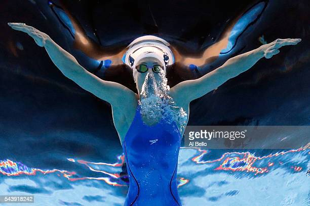 Katie Meili of the United States competes in a heat for the Women's 200 Meter Breaststroke during Day Five of the 2016 US Olympic Team Swimming...