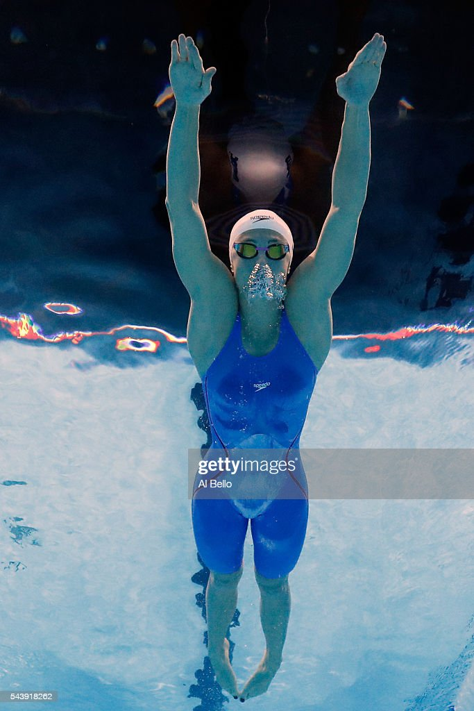 <a gi-track='captionPersonalityLinkClicked' href=/galleries/search?phrase=Katie+Meili&family=editorial&specificpeople=11748551 ng-click='$event.stopPropagation()'>Katie Meili</a> of the United States competes in a heat for the Women's 200 Meter Breaststroke during Day Five of the 2016 U.S. Olympic Team Swimming Trials at CenturyLink Center on June 30, 2016 in Omaha, Nebraska.