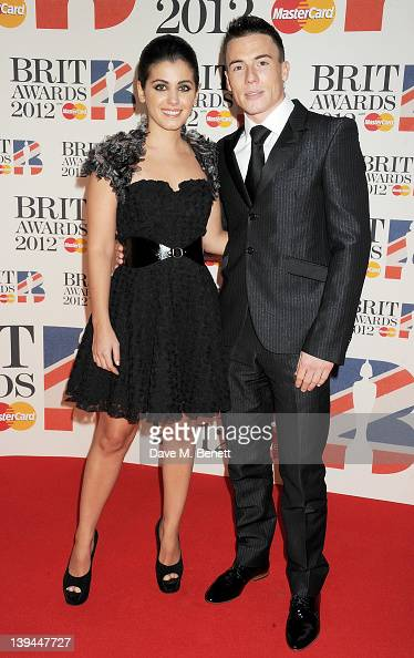 Katie Melua and James Toseland arrive at the BRIT Awards 2012 at O2 Arena on February 21 2012 in London England