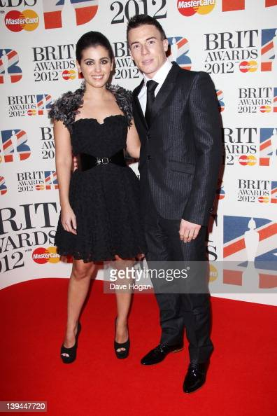 Katie Melua and James Toseland attend The Brit Awards 2012 at The O2 Arena on February 21 2012 in London England