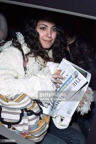 Katie Melua comes out of the Cafe de Paris Club in Leicester square London