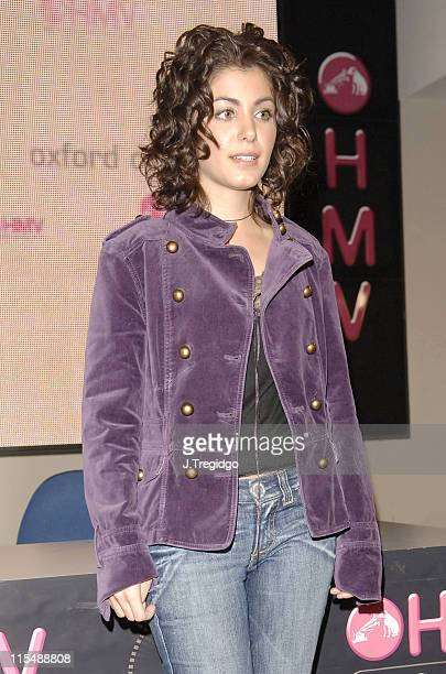 Katie Melua during Katie Melua InStore Performance for Her Album 'Piece by Piece' at HMV in London September 26 2005 at HMV in London Great Britain